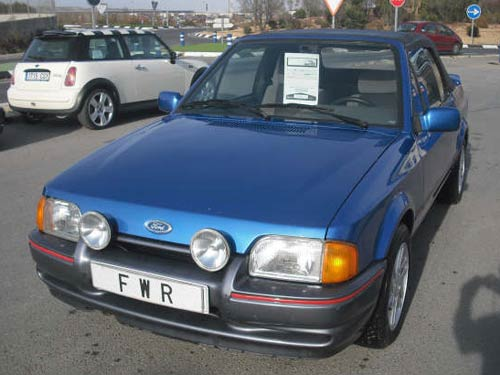 ford escort xri cabriolet  car costa blanca spain