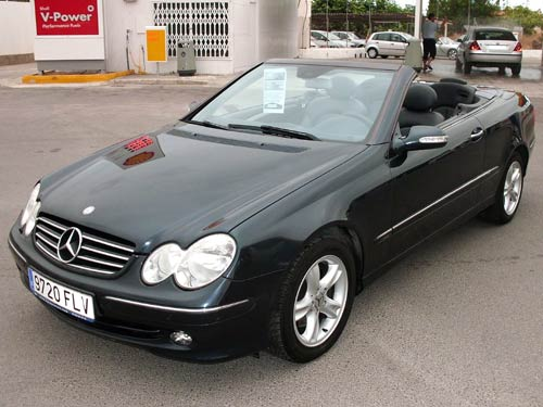 mercedes clk 200 cabriolet used car costa blanca spain. Black Bedroom Furniture Sets. Home Design Ideas