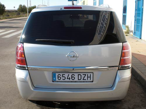Opel Zafira Used Car Costa Blanca Spain Second Hand