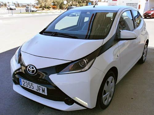 toyota aygo used car costa blanca spain second hand cars. Black Bedroom Furniture Sets. Home Design Ideas